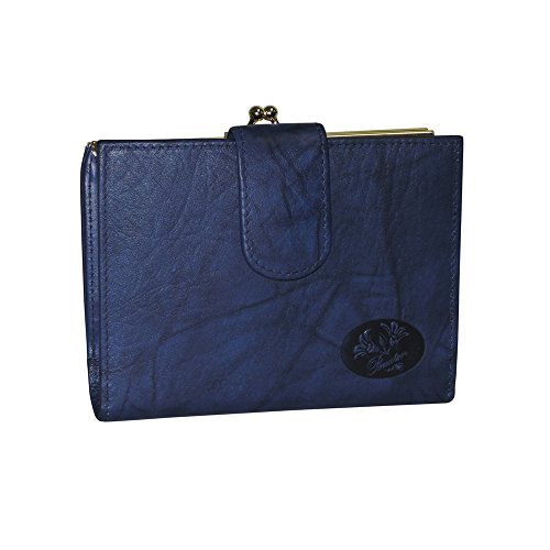 Buxton Heiress Double Cardextm Wallet (Navy-Blue)