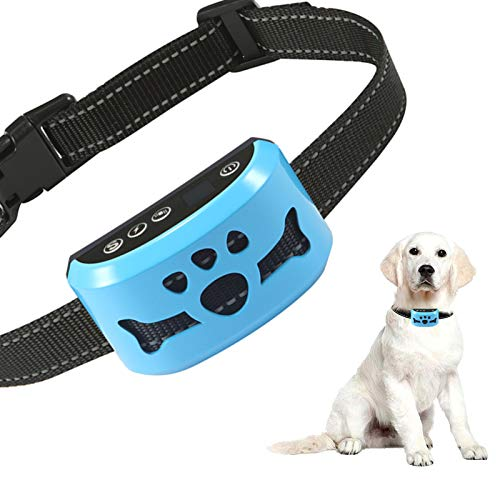 Dog Bark Collar Rechargeable Anti Barking Training Collar with 7 Adjustable Sensitivity and Intensity Beep Vibration for Small Medium Large Dogs