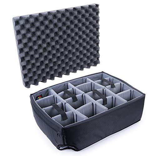 Grey Padded dividers to fit The Pelican 1560 case.