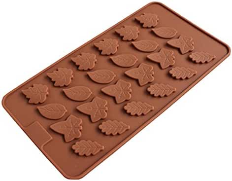 24 Cavity Maple Leaves Ice Cube Tray Fondant Silicone Mold Sugar Chocolate Mold Candy Molds
