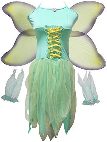 Mini Apple Green /& Emerald with Dark Green Fairy Wingalings Costume Fairy Wings