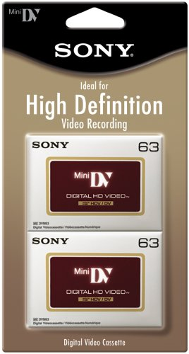 Sony DVM63HDR/2 High Definition Minidv Videocassette - 2 Pack by Sony