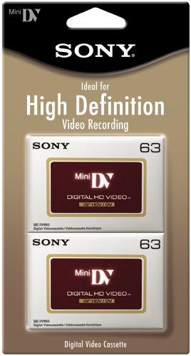 Sony DVM63HDR/2 High Definition Minidv Videocassette - 2 Pack