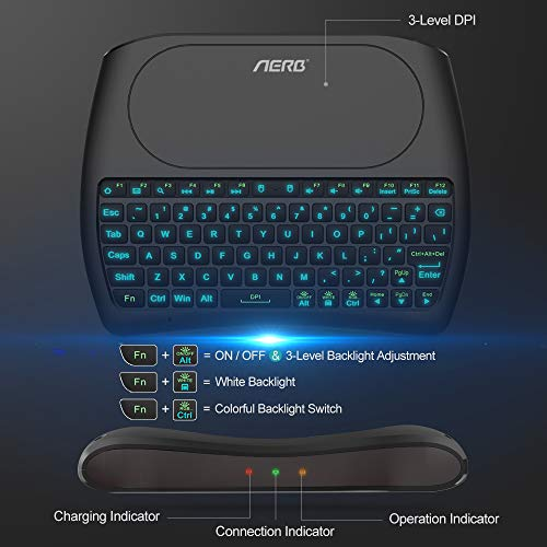 Usb backlit keyboard with touchpad