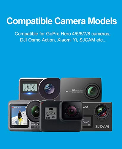 Compatible with The SJCAM SJ5000 Action Camera Navitech 8-in-1 Action Camera Accessories Combo Kit