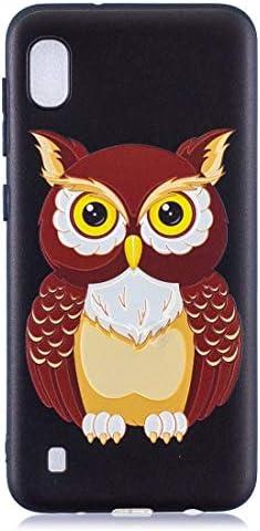 あなたの携帯電話を保護する ギャラクシーA10のためのエンボスパターンTPUソフトカバーケース (パターン : Owl)