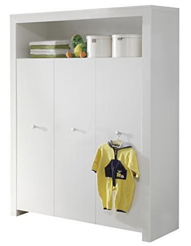 maisonnerie 1553 613 01 chambre bb cration olivia armoire blanc lxhxp 130x186x54 cm amazonfr bbs puriculture - Chambre Olivia Bebe