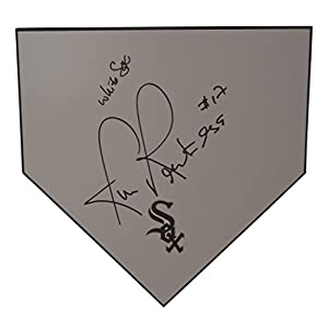 Chicago White Sox Rick Renteria Autographed Hand Signed Baseball Home Plate Base with Proof Photo of Signing and COA