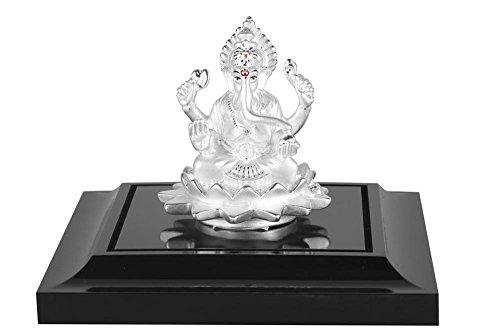 LAMINATED 35x24 inches Poster: Ganapati Ganesha Silver India Hinduism Religious Hindu God Religion Decoration Deity Lord Sculpture Mythology Traditional Devotion Vinayaka Ceremony Idol Spiritual by Gifts Delight