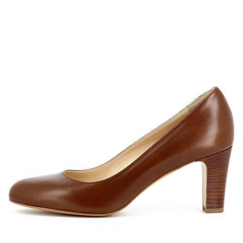 Evita Shoes Bianca Escarpins Femme Cuir Lisse Cognac 2RmWEVrd9P