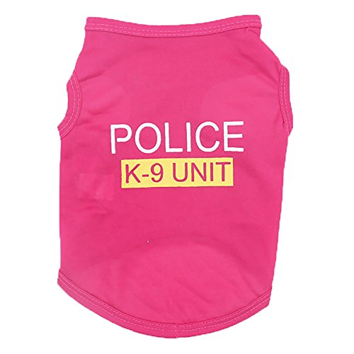 Gyoume Pet Dog T Shirts Unisex Pet Clothes Puppy Dog Cat Vest T Shirt Apparel ()