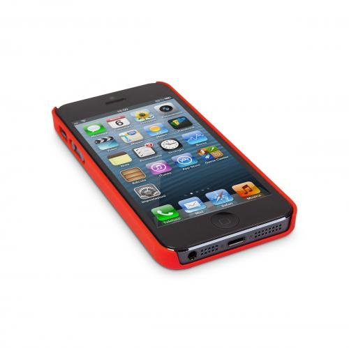 Aiino Rubber Schutzhülle Handyhülle Schale Spezialedition für Smartphone Apple iPhone 5/5S - Poppy Red