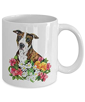 Peaceful Pit Bull Mug - Cool Ceramic Pitbull Coffee Cup (15oz)