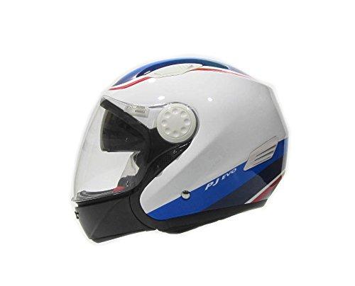 Amazon.es: Casco para moto, doble homologación Jet e integral, con calota de fibra de vidrio y doble visera. Homologado en Italia ECE 22.05 E3PJ Evo 08 ...