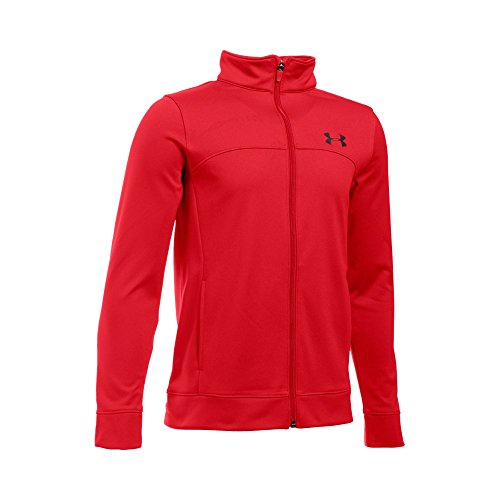 Under Armour Boys' Pennant Warm Up Jacket, Red/Black, Youth - Warm Jacket Youth Up