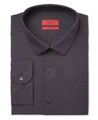 Alfani Mens Woven Printed Button-Down Shirt Black from Alfani