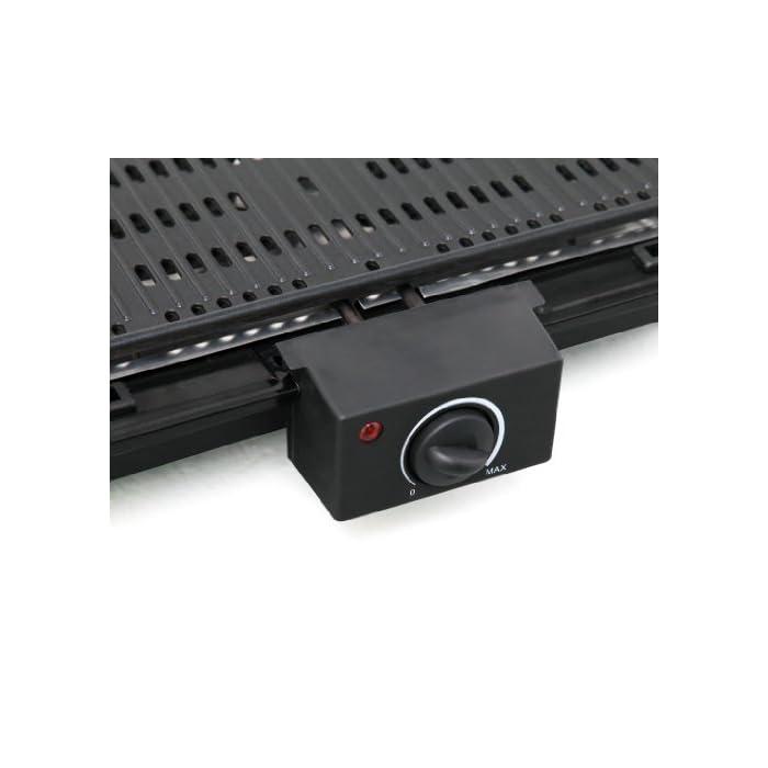 41fn1cVHkzL Revestido antiadherente placa de la parrilla 40.4 x 22.7 cm Termostato ajustable con luz indicadora El elemento calefactor se puede quitar para la limpieza