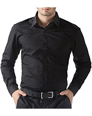Mens Casual Dress Shirts Slim Fit Style