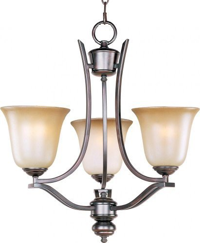 (Maxim Lighting 10174WSOI Madera 3-Light Chandelier, Oil Rubbed Bronze Finish with Wilshire Glass by Maxim Lighting )