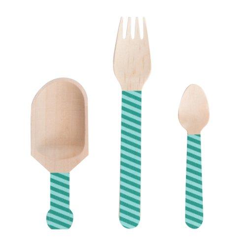 Dress My Cupcake Cutlery Stripes