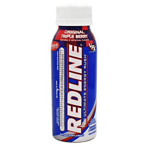 VPX Redline RTD, 24 - 8 fl oz (240 ml) Bottles, Original Triple (Rtd Triple Berry)