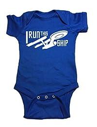 "Star Trek One Piece Starship Enterprise ""I Run This Ship"" Baby Bodysuit"