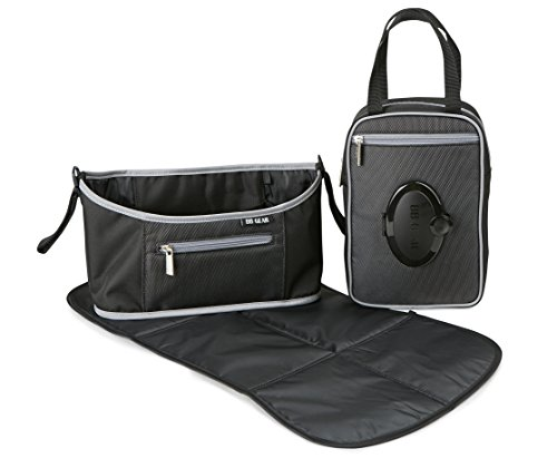BB Gear Small Baby Stroller Organizer Caddy - Compact Design is a Universal Fit for Single Stollers  Bag Easily Fits Parent's and Baby's Accessories without Weighing Down Stroller  Great for Travel