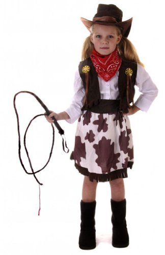 Amazoncom Cowgirl Costume Girls Cow Costume Age 10 12 By Cowgirl