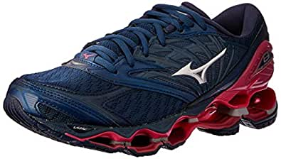 Mizuno Australia Women's Wave Prophecy 8 Running Shoes, Blue Wing Teal/Silver/Honeysuckle, 6.5 US