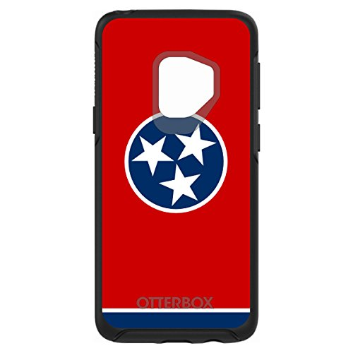 Galaxy S9 OtterBox SYMMETRY Black Custom Case By DistinctInk - Tennessee State Flag - US State Flag
