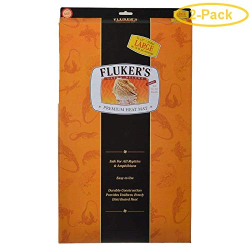 Fluker's Ultra Deluxe Premium Heat Mat Large - 20 Watts (30-40 Gallons) - Pack of 2 by Fluker's