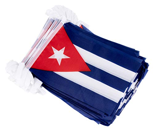 - Juvale Cuban String Flags - 100-Piece Pennant Banner Hanging Decoration, Cuba Flag Garland for Indoor Outdoor Display, 5.75 x 8 Inches, 82 Feet Total Length