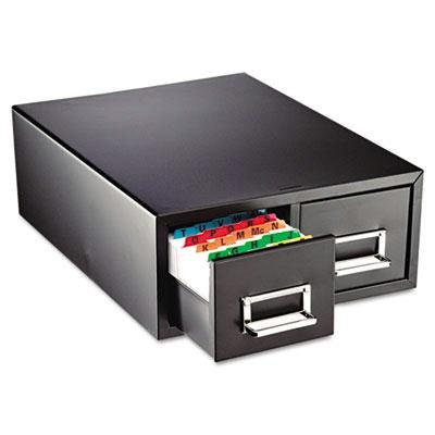 Steelmaster - Drawer Card Cabinet Holds 3000 6 X 9 Cards 20 3/8 X 16 X 8 3/8 ''Product Category: Desk Accessories & Workspace Organizers/Card Files Holders & Racks'' by SteelMaster