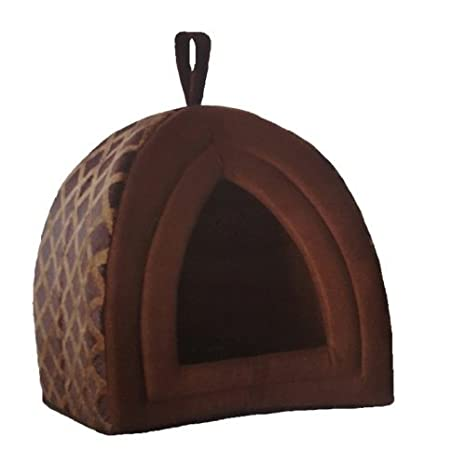 Casa iglú para mascotas de polar suave, cesta lujosa para perros y gatos en un tamaño grande: Amazon.es: Productos para mascotas