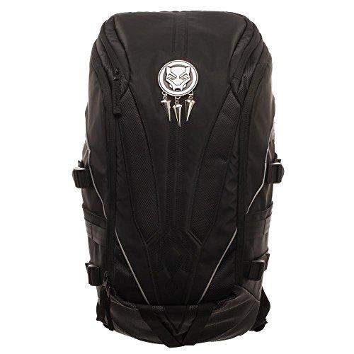 Black Panter Mixed Material Laptop Backpack