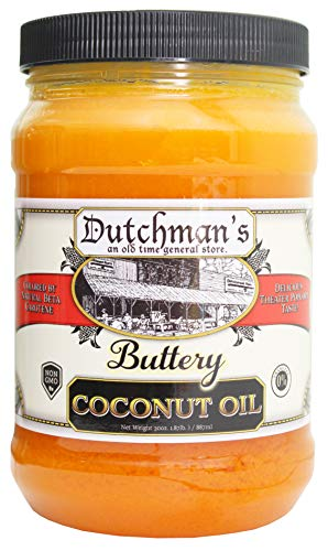 Dutchmans Popcorn Coconut Oil Butter Flavored Oil (Colored with Natural Beta Carotene) The Secret to Making Awesome Popcorn at Home