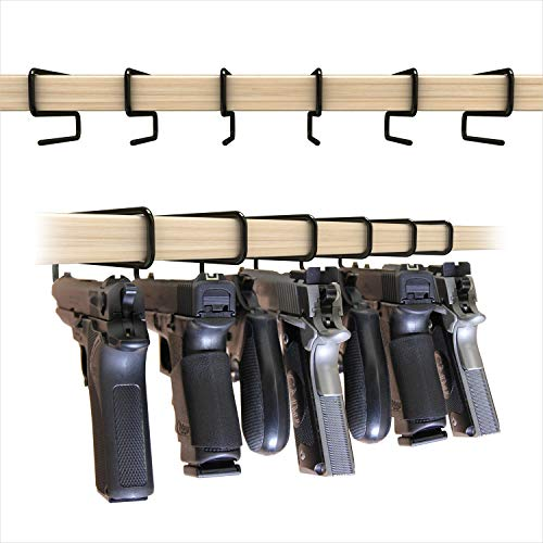 Sylvan Arms Handy Gun Hangers 6 Pack for Shelves and Safes Works For All Handguns
