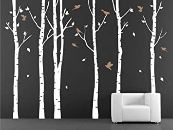 Amazoncom Vinyl Wall Decal Birch Tree Wall Decals For Nursery - Vinyl wall decals birch tree