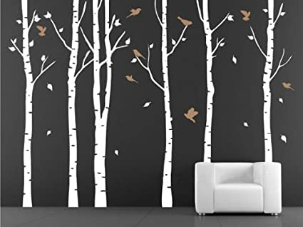 Vinyl Wall Decal Birch Tree Wall Decals For Nursery Wall Stickers Living  Room Decor