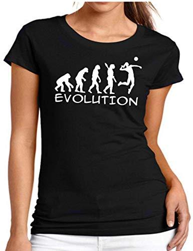 Evolution Wixsoo T Maglietta Shirt Donna Nero Volley xZIwZ71qr