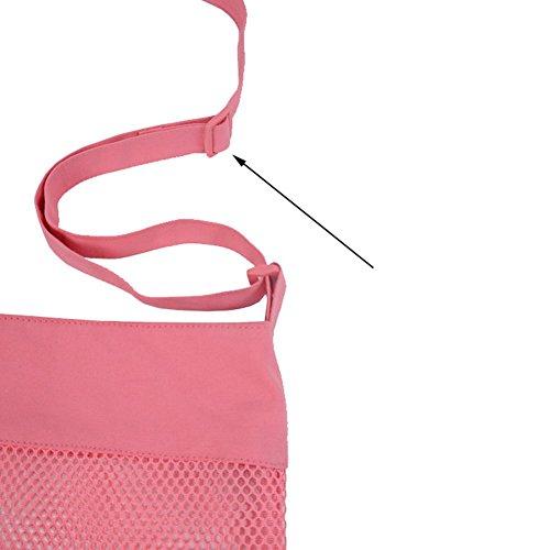 Rimobul sabbia della spiaggia Treasures conchiglie tasca in Velcro Sacchetti in rete, confezione da 4 pezzi (taglia: L