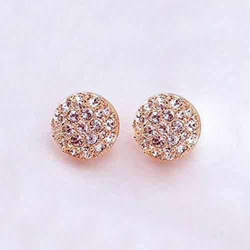 Fashion Elegant Lady Circle Crystal Rhinestone Ear Stud Earrings  Women Jewelry