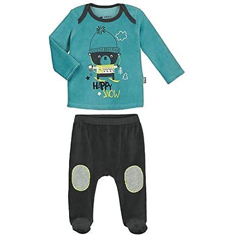 ce7b0fa9c962d Pyjama bébé 2 pièces velours avec pieds Happysnow - Taille - 9 mois (74 cm