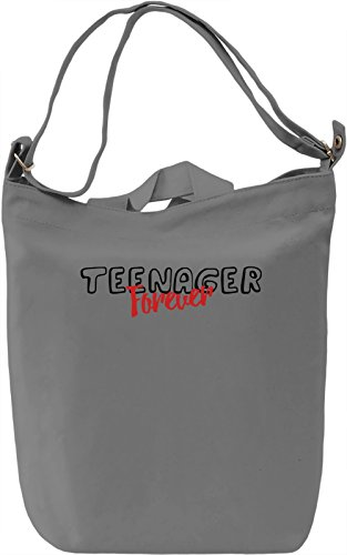 Teenager forever Borsa Giornaliera Canvas Canvas Day Bag| 100% Premium Cotton Canvas| DTG Printing|