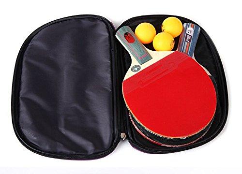 Mode Fächerförmige Ping-Pong Paddel-Abdeckung Tasche blau CZGd2ow