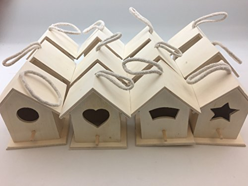 Design Your Own Wooden Birdhouses 12 Bird House Bulk (Bird Unfinished Wood)