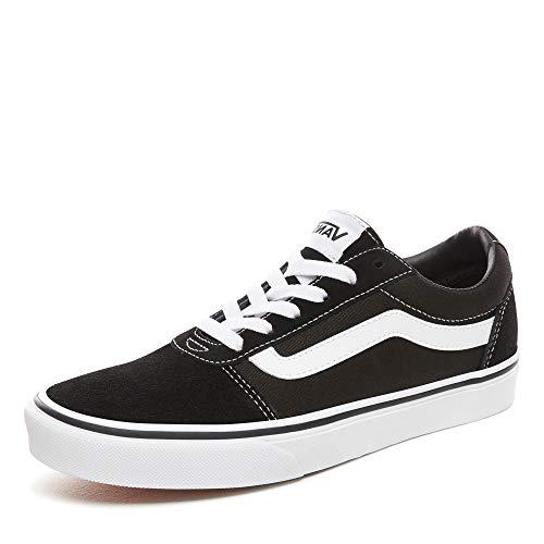 Vans-Womens-Ward-SuedeCanvas-Low-Top-Sneakers-Black-SuedeCanvas-BlackWhite-Iju-55-UK