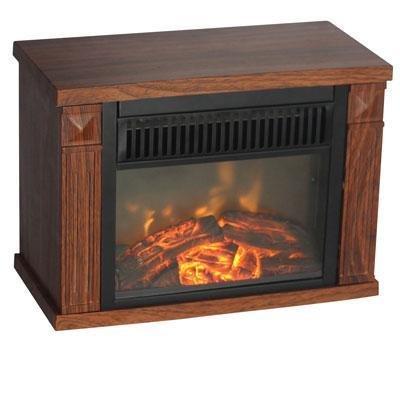 World Marketing Fireplace - Comfort Glow The Mini Hearth Electric Fireplace (Wood Grain)