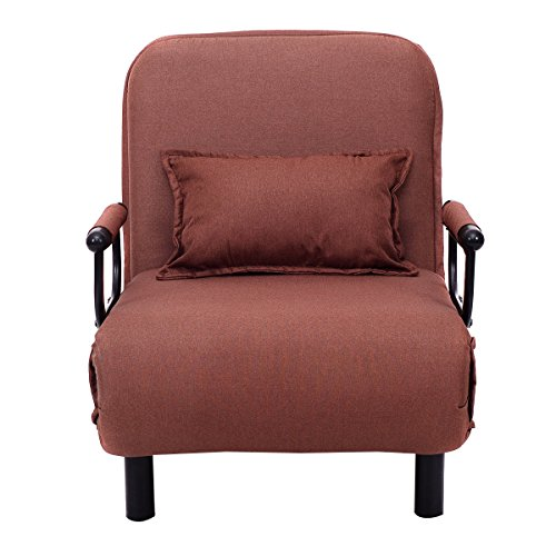 Folding Convertible Sofa Bed Arm Chair Sleeper Leisure Recliner Lounge - Express Shoe Lab