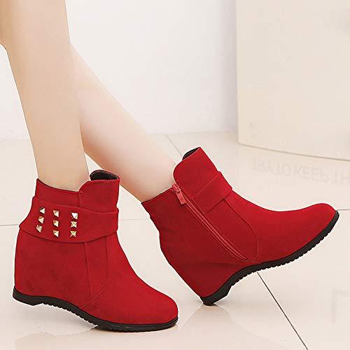 Lässige Martin Rot Sonnena Stiefeletten Damen Winter Vintage Sexy Heels Stiefel aushöhlen Stiefel Herbst Damenschuhe Freizeitschuhe High Frauen Casual Schuhe Stiefel n8wPxwHf